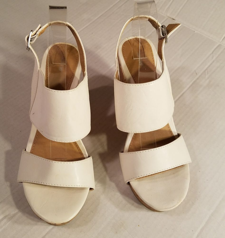 f868f9322ffd Kohls APT 9 Shoes sz 8M AP BENSEN White Fashion Peep Toe Wedges Shoes  APT9   PlatformsWedges  Casual