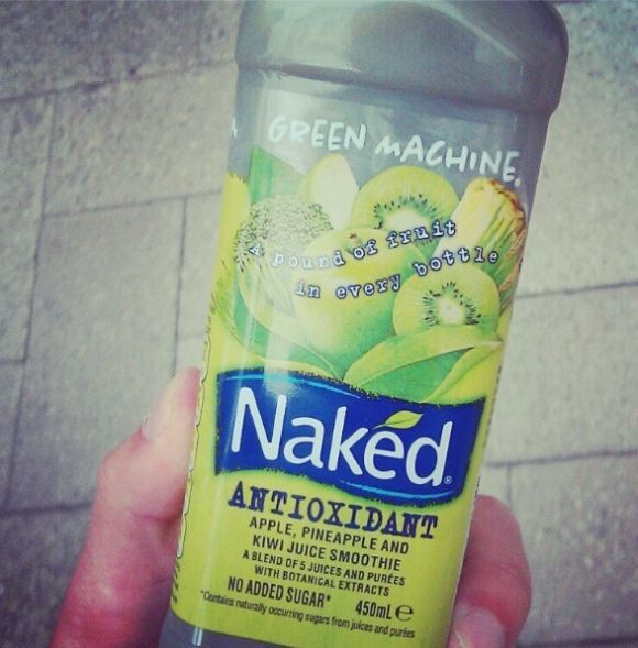 Naked Juice Drink... Cures any hangover!