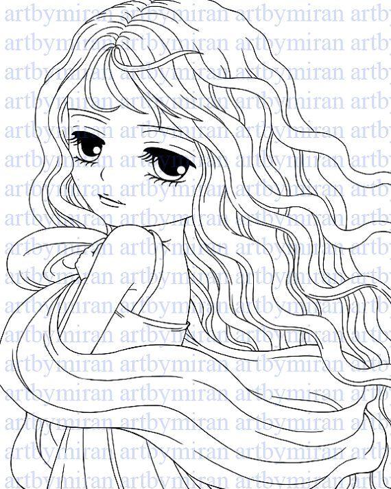 Coloring Page Digital Stamp Coraline106 Digi Stamp Etsy Digital Stamps Digi Stamp Coloring Pages