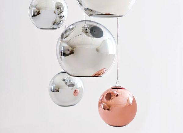 copper globe pendant lamps