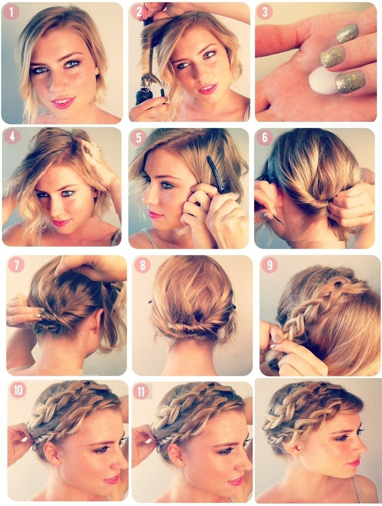 Coiffure soiree cheveux courts femme