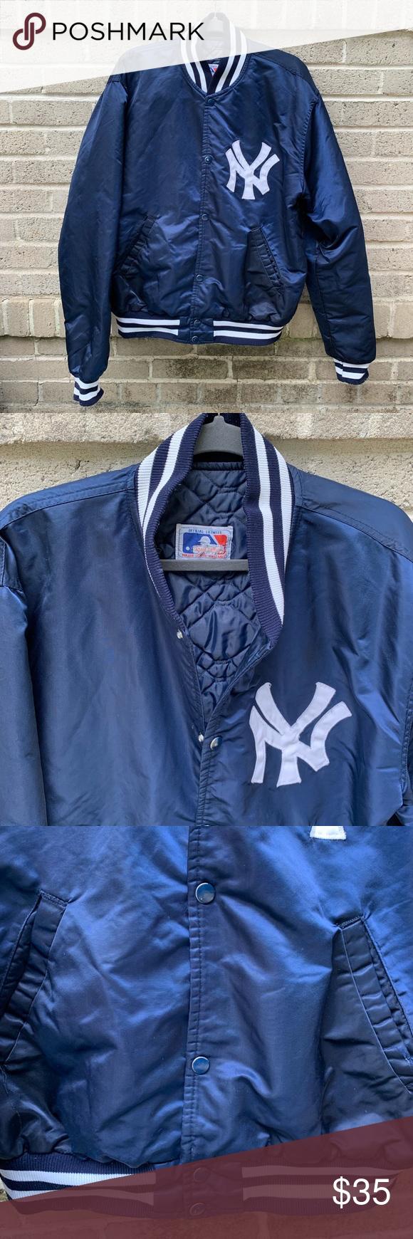 New York Yankees Bomber Blue Bomber Jacket Navy Blue Bomber Jacket Bomber Jacket