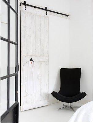 porte coulissante sur rail métallique en applique #sliding #door - rail porte coulissante en applique
