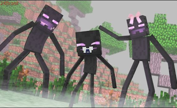 Minecraft: WHO'S YOUR DADDY FAMILY? - BEBÊ ENDERMAN APRENDEU TELEPORTAR! (Baby Enderman)