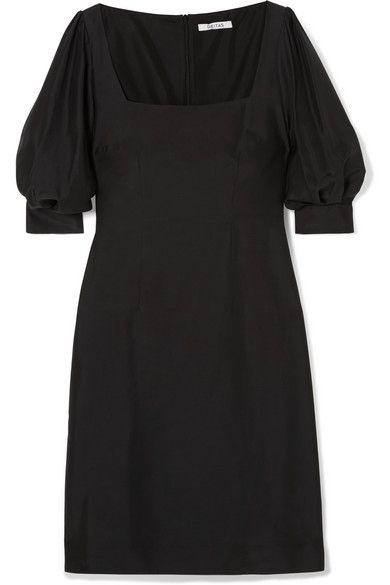 Kaspia Silk Mini Dress - Black Deitas aHklE
