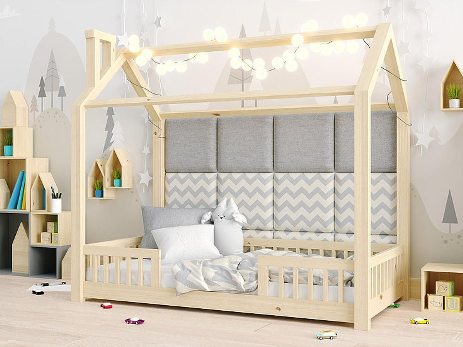 House Bed Cot Cot Wooden Bed Children S Room Cot Pine Wood Cot With Proof Protection Kinderbett Haus Kinderbett Kinderbett Holz