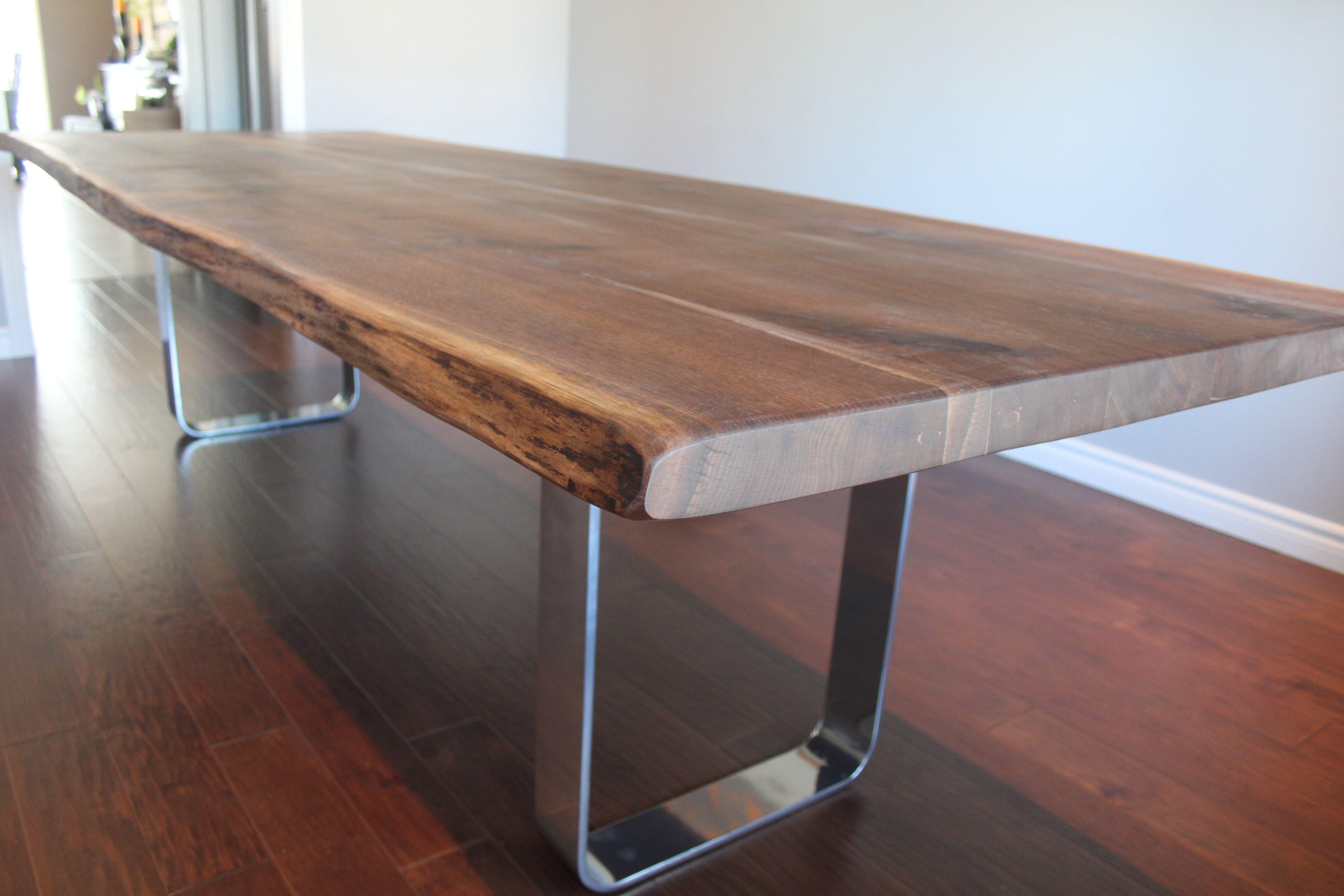 10 Ft Live Edge Black Walnut Dining Table Living Wood Design Reclaimed Craft Custom Furniture
