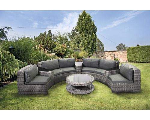 Loungeset Cobana Polyrattan 6 Sitzer 8 Teilig Anthrazit Outdoor Outdoor Decor Outdoor Furniture