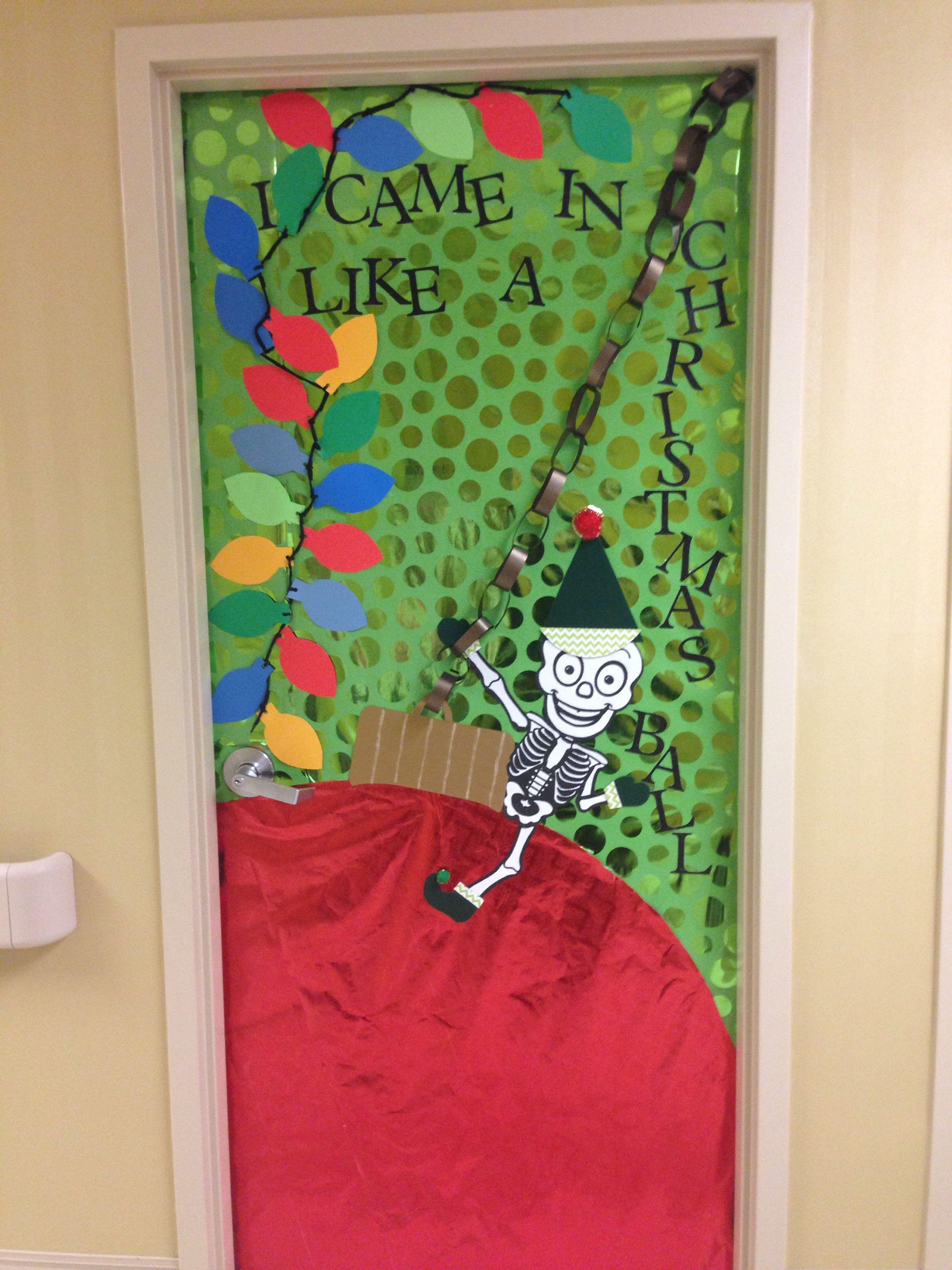 Radiology Department Christmas Door Wrecking Ball Christmas Miley Cyrus Diy Christmas Door Christmas Door Decorating Contest Hospital Door Decorations