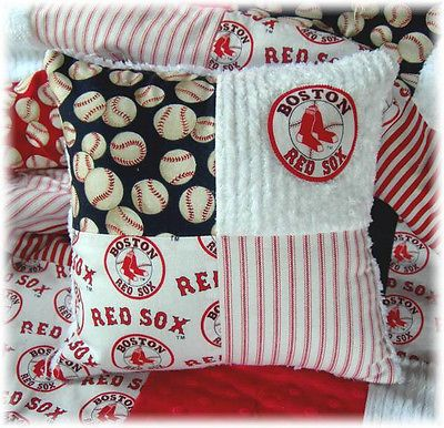 Boston Red Sox Fabric Chenille Baby Quilt Baseball Quilt Crib ... : baseball quilt fabric - Adamdwight.com
