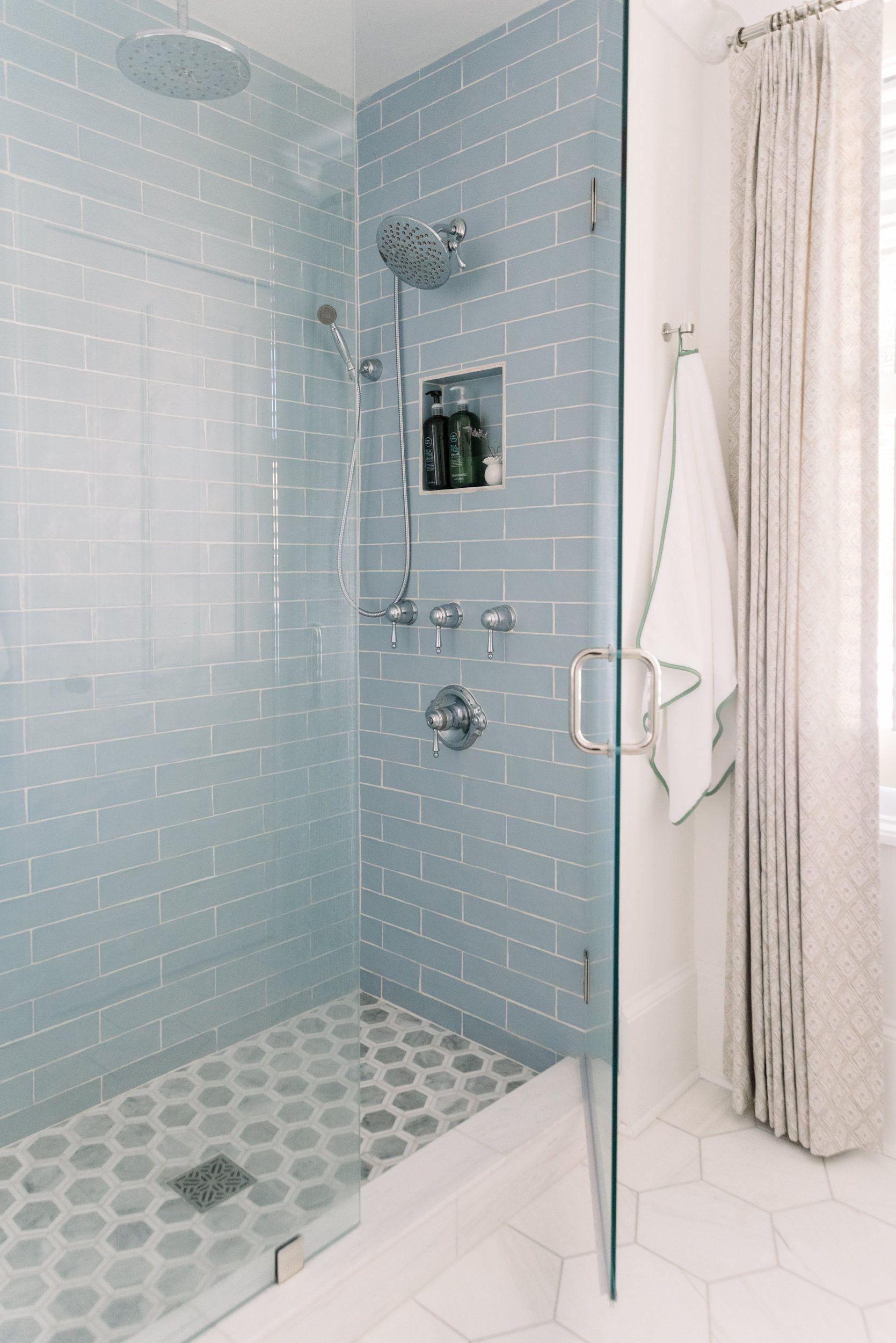 Folly Blue 3x6 Matte Bathroom Design Inspiration Master Bathroom Master Bathroom Update