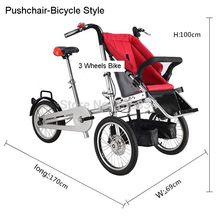 cool Folding Taga Bike 16inch Mother Baby Stroller Bike Carrier ...