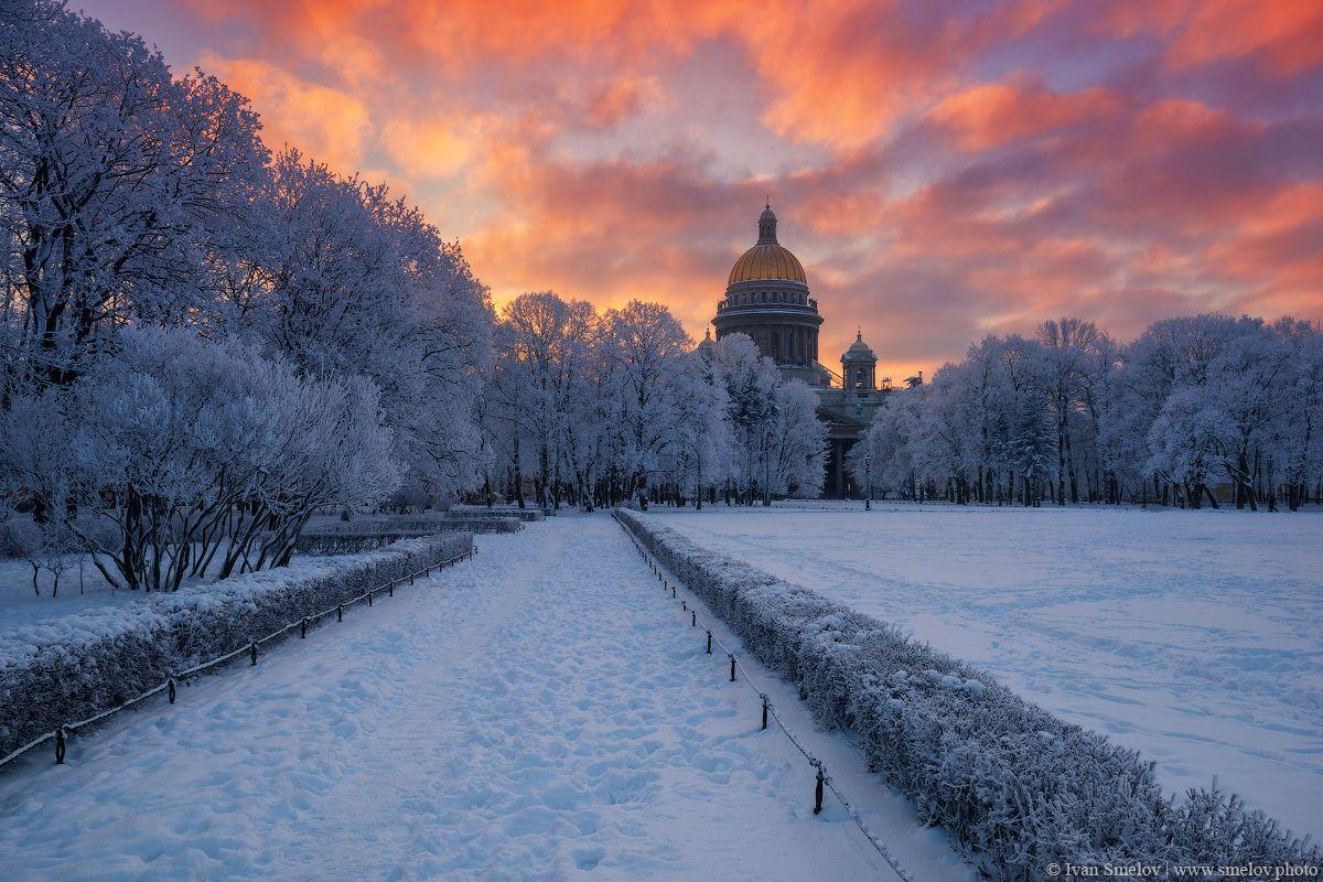 фотки питера зимой