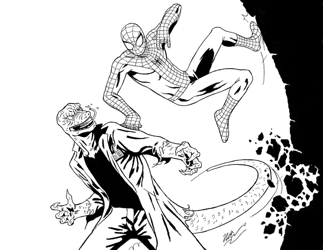 free coloring page spiderman lizard man | coloring Pages | Pinterest ...