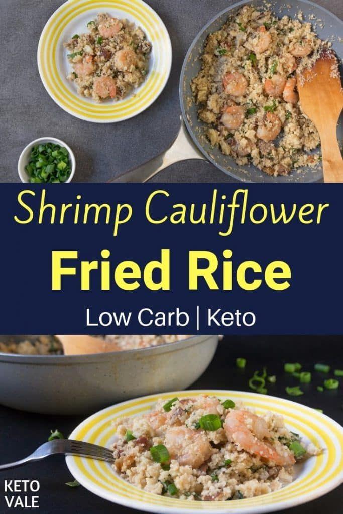 Keto Shrimp Cauliflower Fried Rice #shrimpfriedrice