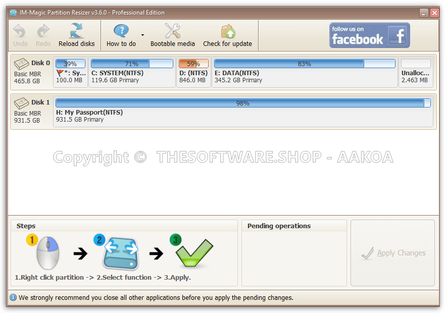 im-magic partition resizer free portable