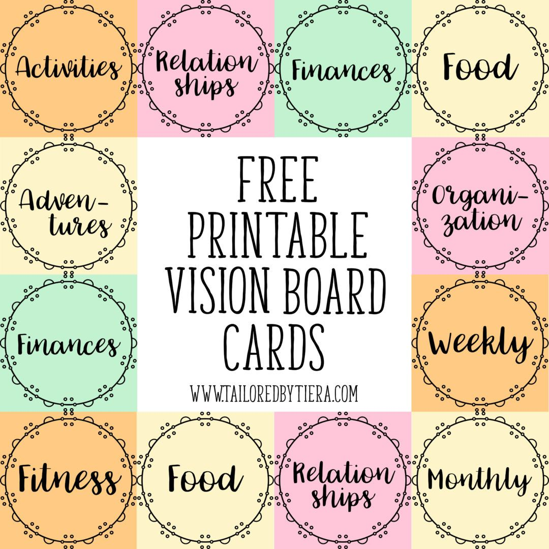 How To Use Visuals To Stay Motivated Vision Board Cards