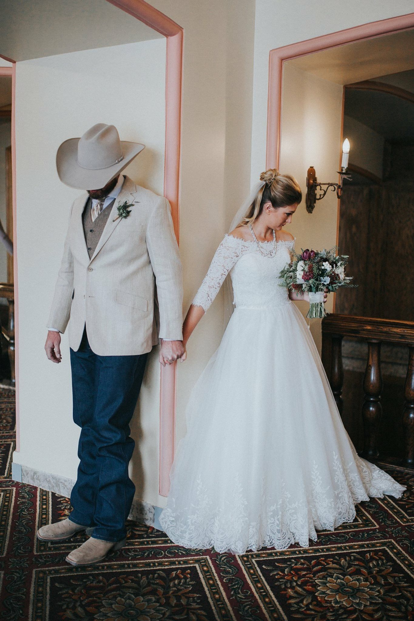 Wedding Prayer Bride and Groom - Cowboy Wedding | Winter Destination ...