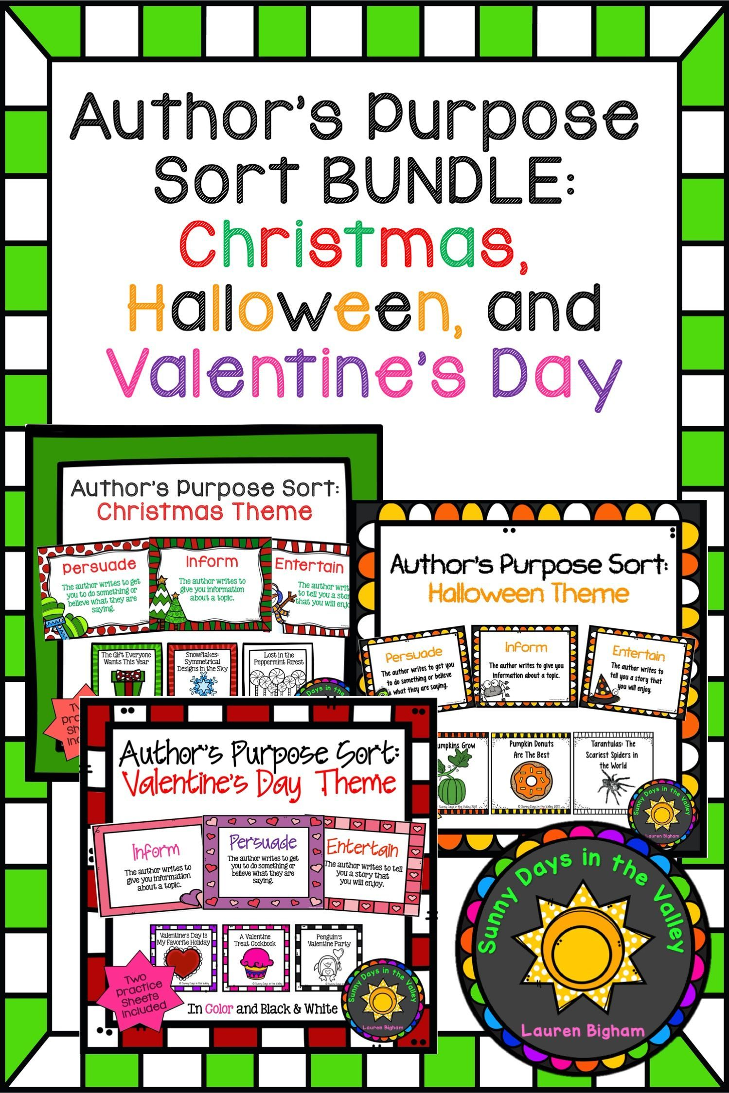 Author S Purpose Sort Bundle Holidays