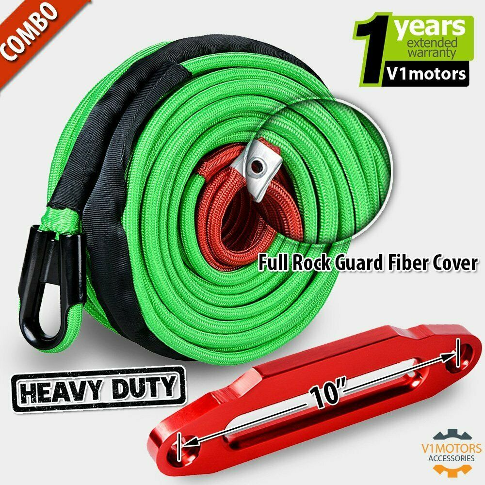 Ebay Sponsored 95 X 3 8 Green Synthetic Winch Cable Rope 22000 Lb W 10 Red Hawse Fairlead Synthetic Winch Rope Winch Rope Winch