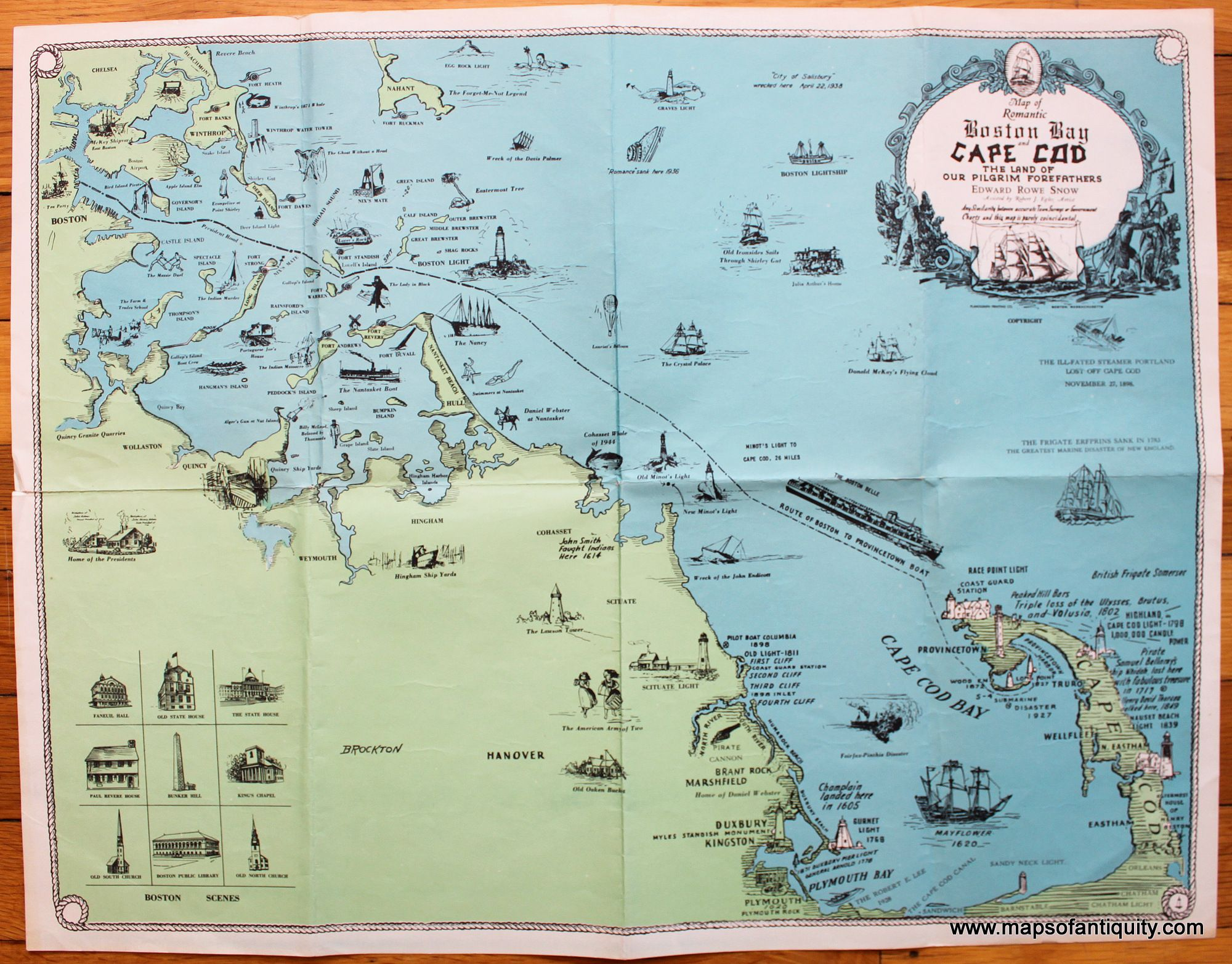 boston and cape cod map Map Of Romantic Boston Bay And Cape Cod The Land Of Our Pilgrim boston and cape cod map