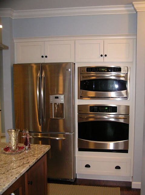 Double Oven Next To Fridge For The Home In 2019 Double