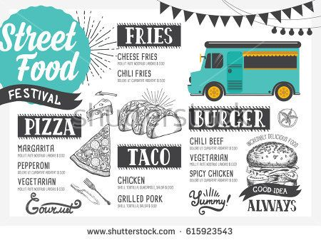 Image result for food cart menu design ideas Graphic Design - menu design template