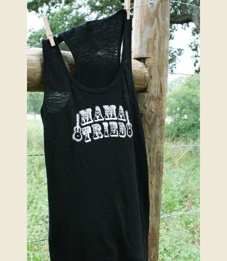 8a036a903f68a1 MAMA TRIED BLACK SLUB TANK - Junk GYpSy co. might have to order and wear  this to merle haggard concert in sept! )