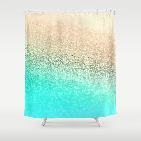 Buy Shower Curtains Featuring GOLD AQUA By Monika Strigel Made From 100 Easy Care Polyester Our Designer Are Printed In The USA And