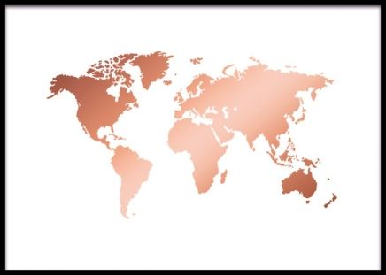 World map copper affiche dans le groupe affiches formats world map copper affiche dans le groupe affiches formats 50x70cm chez desenio ab gumiabroncs Image collections