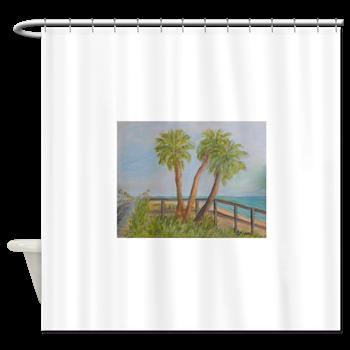 A1A In Flagler Beach Florida Shower Curtain