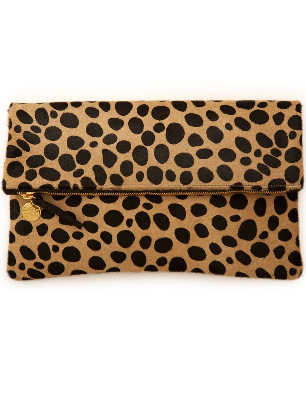 db66ac591 Clare Vivier Leopard Print Fold Over Clutch | BAGS & ACCESSORIES ...