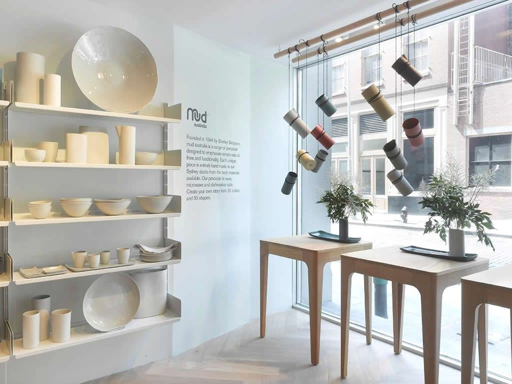 retail interior design of mud australia store new york