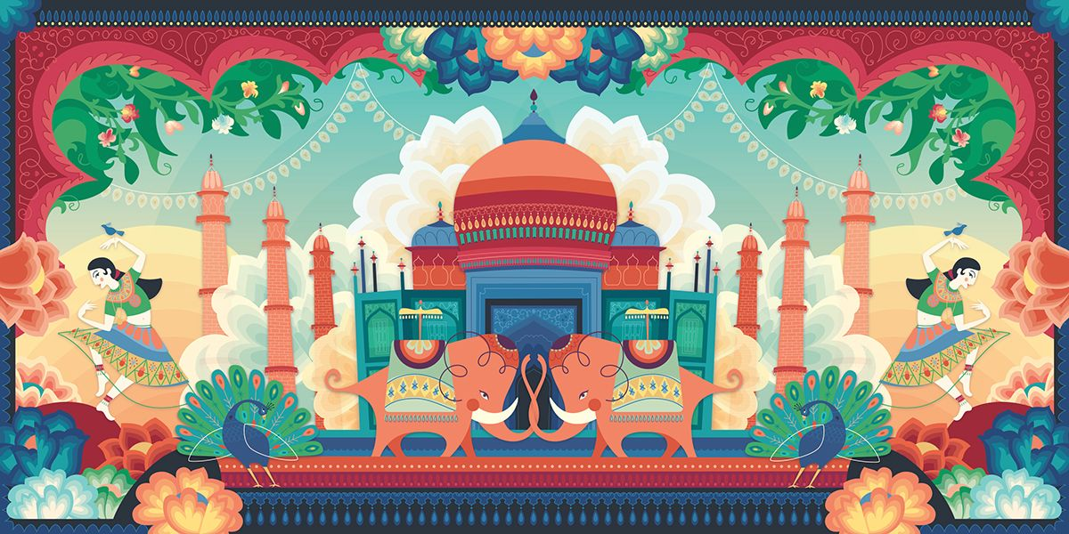 QTE's Indian Illustration on Behance
