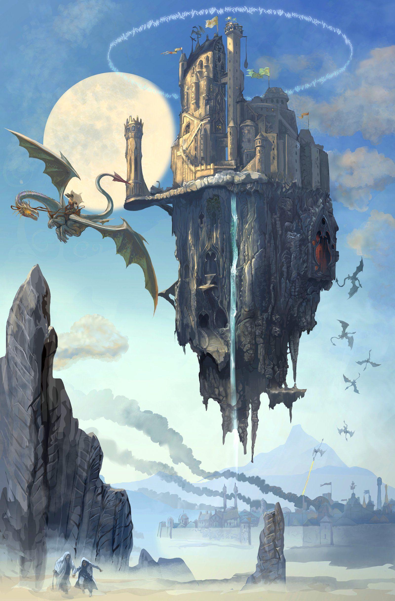 Flying Castle Serg4d Fantastic Fantasy Landscapes In 2019 Art Concept