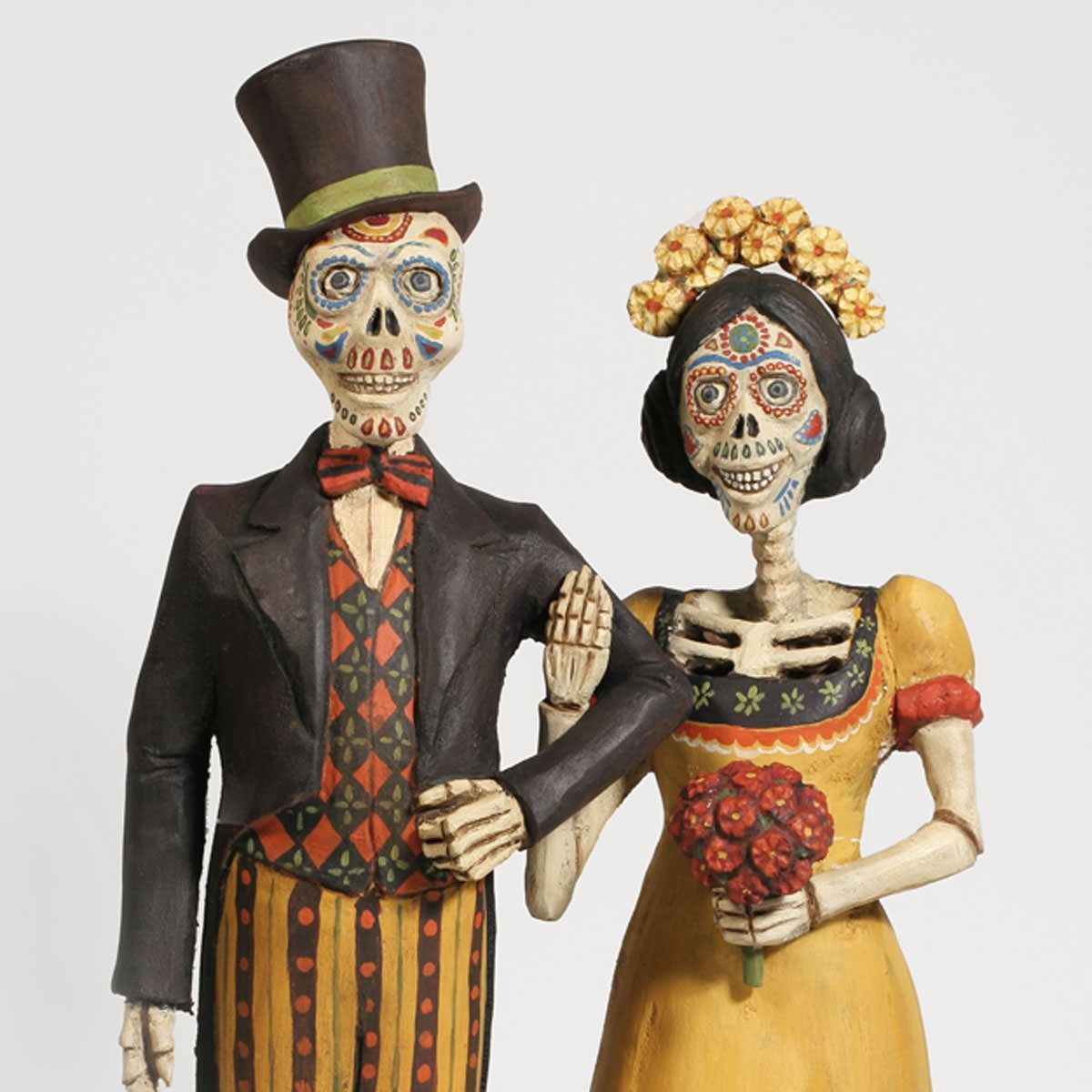 Day Of The Dead Couplewood Carving By Ed Pribyl American Folk Art