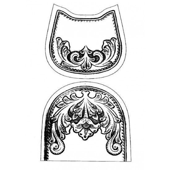 Free download leather craft pattern, leather pattern, leathercraft pattern, No.17, saddle bag pattern