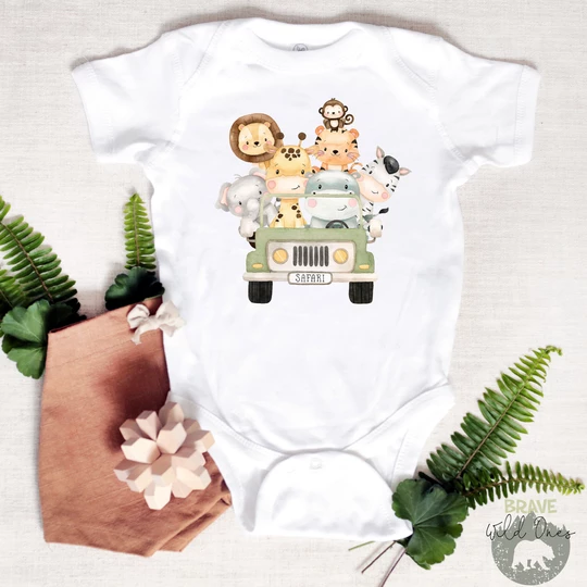 funny baby vest One handsome king of the jungle bodysuit babygrow