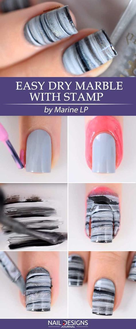 10 Easy Tutorials Different Nail Designs Step By Step Marbles