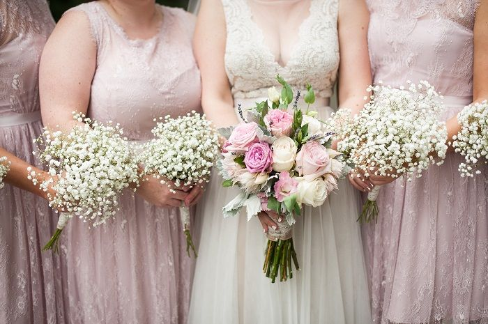 Blush bridesmaids | fabmood.com #blush #bridesmaids