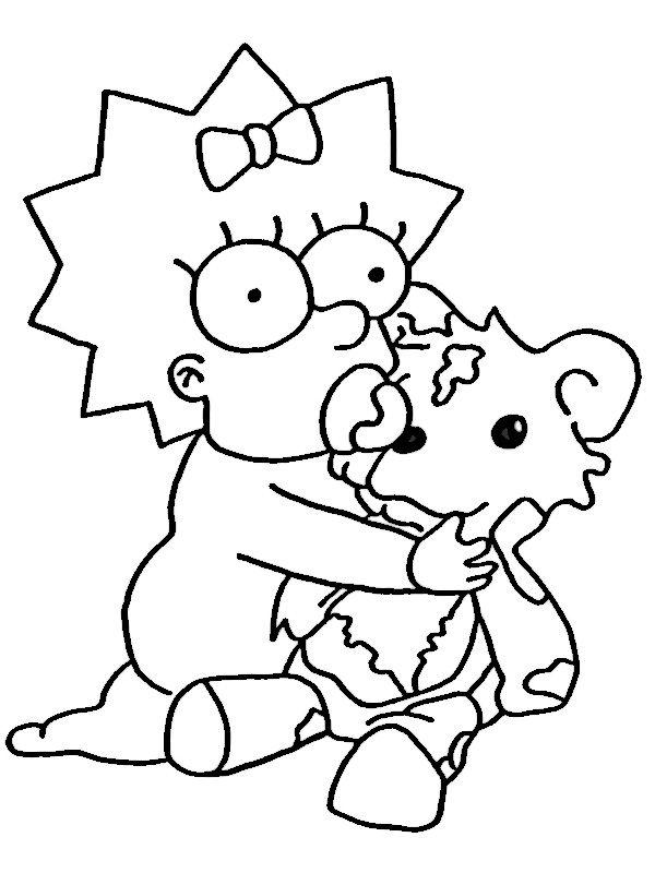 Dibujos para Colorear Los Simpsons 16 | Dibujos para colorear para ...
