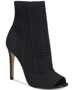 Aldo Women's Keshaa Peep-Toe Knit Bootie - Black 7.5M