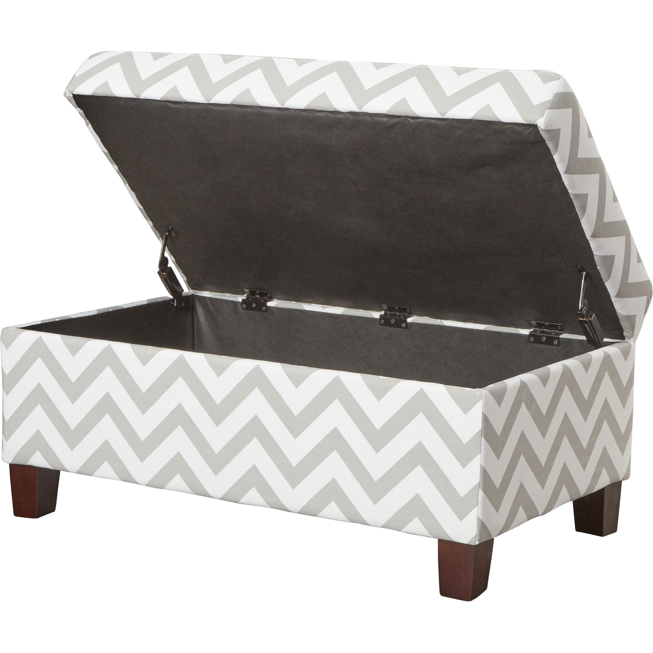 Living Room Ottoman With Storage Shore Front Chevron Storage Ottoman Wayfairca My Living Room