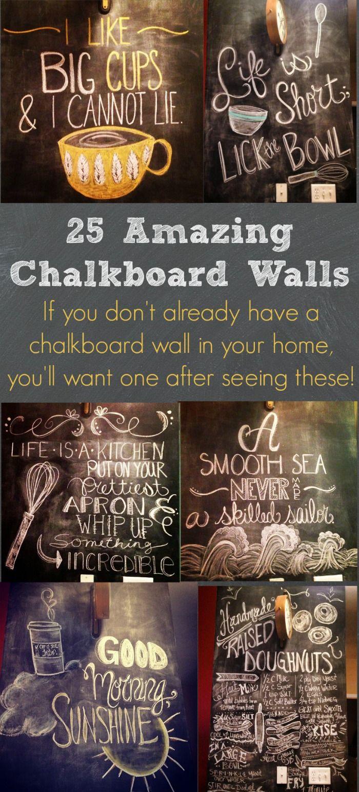 25 Amazing Chalkboard Walls | Kreide, Tafel und Kreidetafel