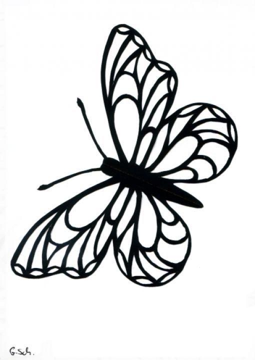 Grusskarte Scherenschnitt Schmetterling Scherenschnitt Schmetterling Scherenschnitt Schmetterling Vorlage