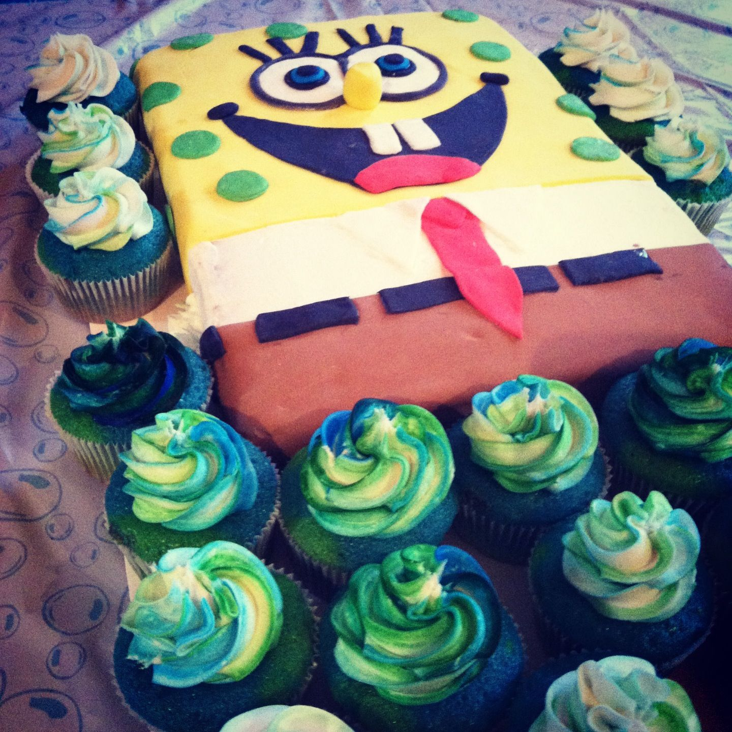Custom Sponge Bob Cake For A Birthday Party Dayton Ohio