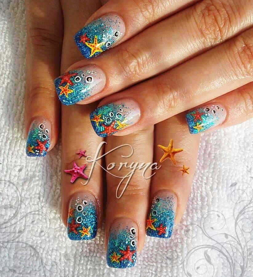 Mermaid nails!   Mermaids   Pinterest