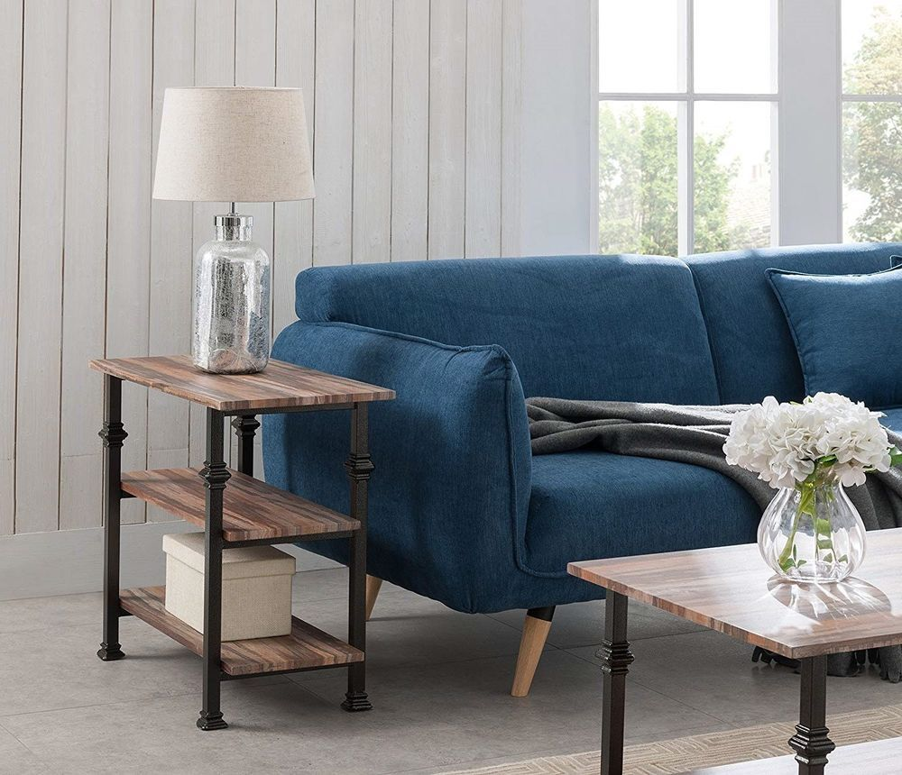 industrial accent table furniture living room end modern