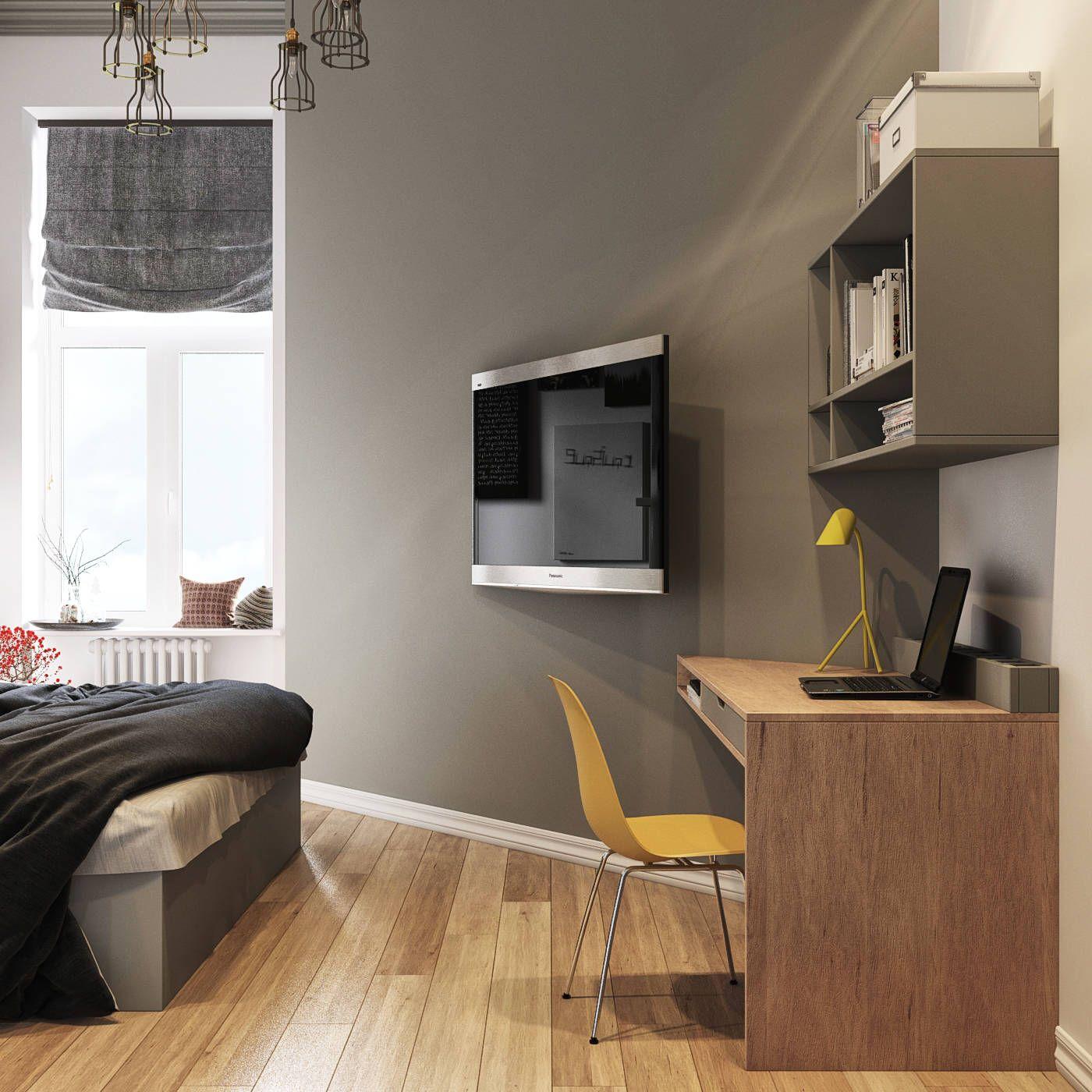 skandinavische schlafzimmer von sreda | grau & gelb - trendfarben ... - Schlafzimmer Gelb Grau