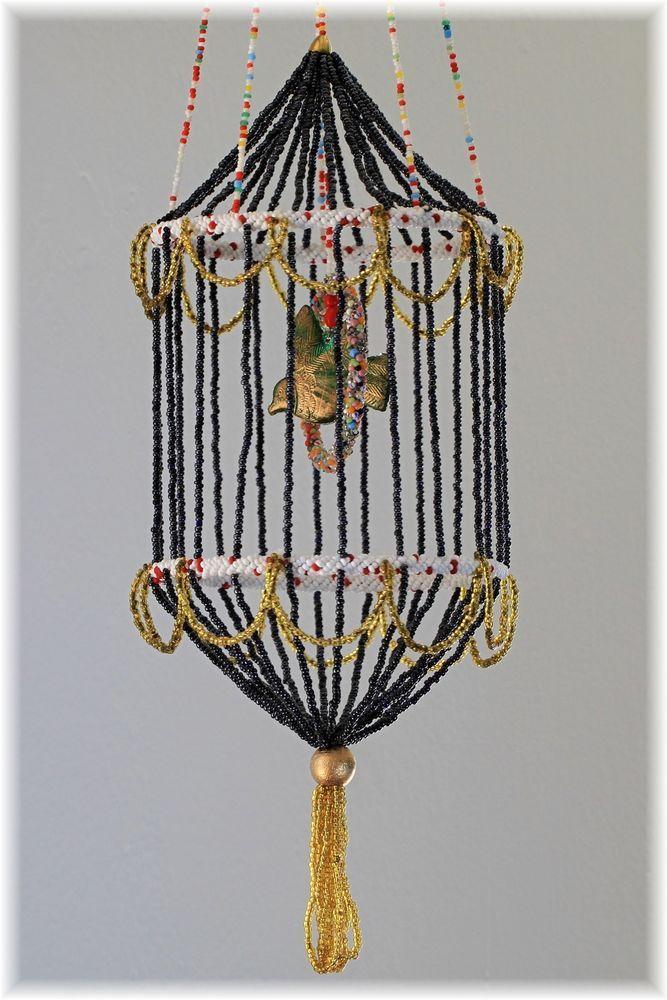 Rarität !!! ca 55 cm hoch Käfig Vogelkäfig aus Gablonz um